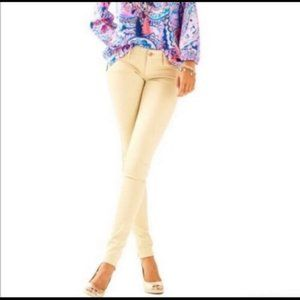 Lilly Pulitzer tan worth skinny jeggings 10